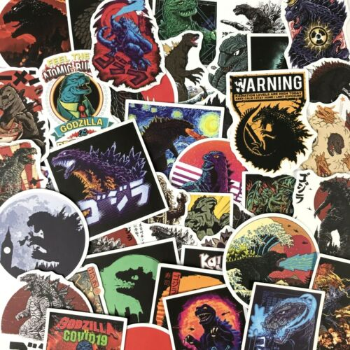 50pc Godzilla Notebook Laptop PS4 XBOX Decal Sci fi Action Movie Sticker Pack