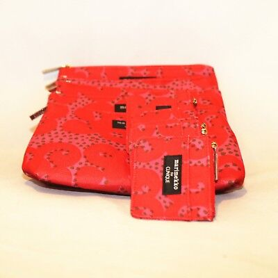 Lot of 5 x Clinique Marimekko Cosmetic Makeup Bag + Zipper Pouch Duo Spring 18
