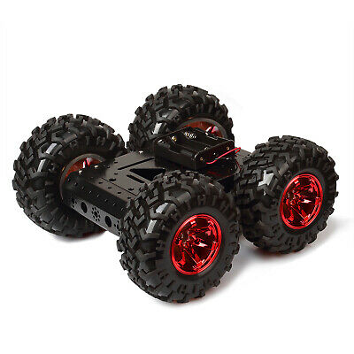 Red Rubber Tire 4wd Smart Car Chassis Kit For Arduino Raspberry Pi Diy Obstacle