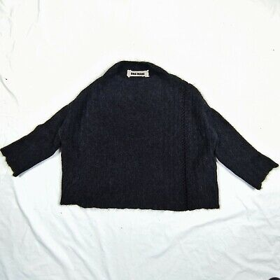 Uma Wang Womens Knit Over Top Sweater Poncho 2017 Oversized Cropped Mohair Sz S
