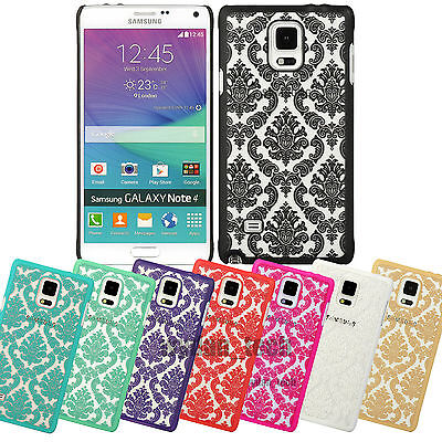 Damask Slim Case Hard Cover For Samsung Galaxy Phones S6 Edge Note 4 (Damask Note)