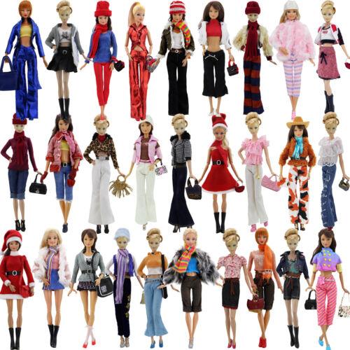 Handarbeit Mode Kleid Mantel Bluse Hose Schuhe Kleidung Für 12 in. Puppe Zubehör