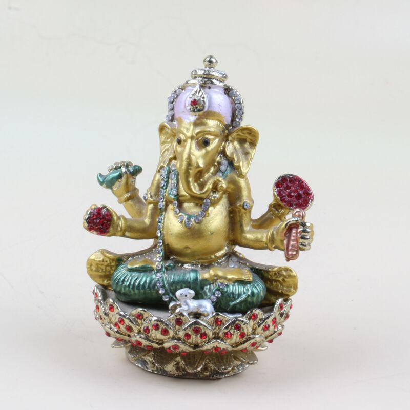 Chinese Collection alloy Elephant Buddha Jewelry Box XJ64