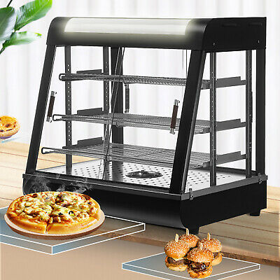 26x26x20 Commercial Food Pizza Heated Display Warmer 3 Tiers Cabinet Case