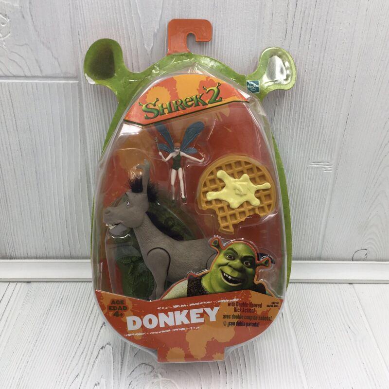 2004 Hasbro Shrek 2 Donkey Hasbro Action Figure Kick Action Magical Pixie Waffle
