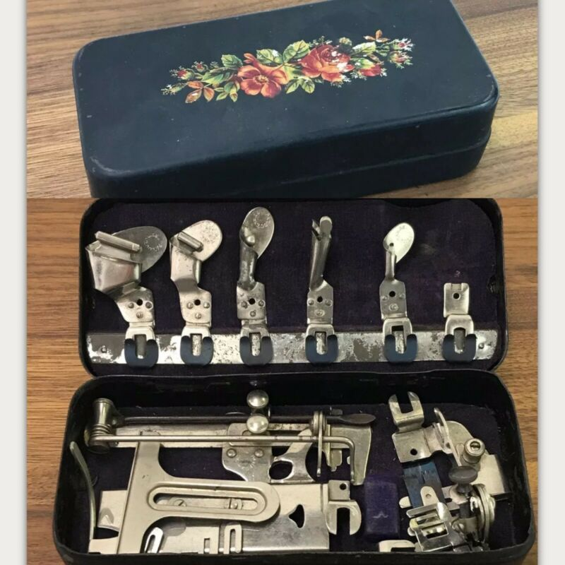 Antique Vtg Sewing Machine Attachments New Home Companion National White Davis +