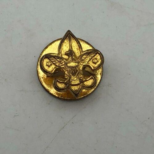 Vintage BSA Lapel Button Stud Boy Scout Emblem Fleur De Lis   R1