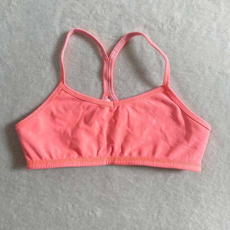 Ivivva lululemon kids size 12 neon orange sports bra