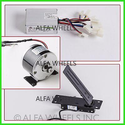 250 W Watt 24 V Dc Electric Motor Kit W Speed Controller Foot Pedal Throttle
