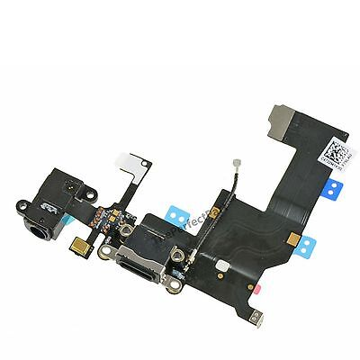 OEM Black Headphone Audio Charger Charging Data USB Port Flex Cable iPhone 5 5G