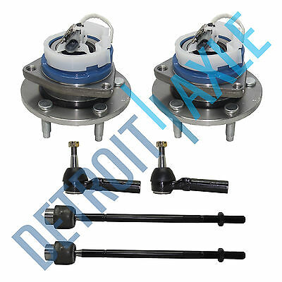 2 Front Wheel Hub And Bearing Assembly w/ ABS  + 2 Outer and 2 Inner Tie - Inner Hub Bearing
