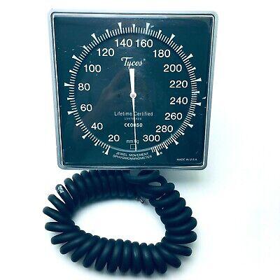 Tycos Blood Pressure Sphygmomanometer Gauge Swivel Wall Mount With Hose