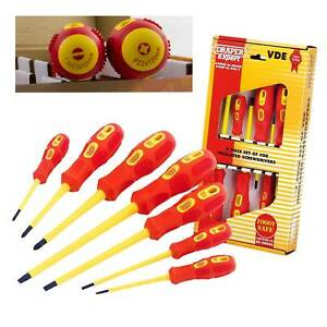 Draper Expert VDE Electricians Screwdriver Set Tool Electrical Fully Insulated