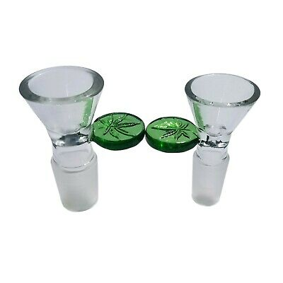 14mm Bowl & 18mm Bowl Glass Male Slide With Round Leaf -