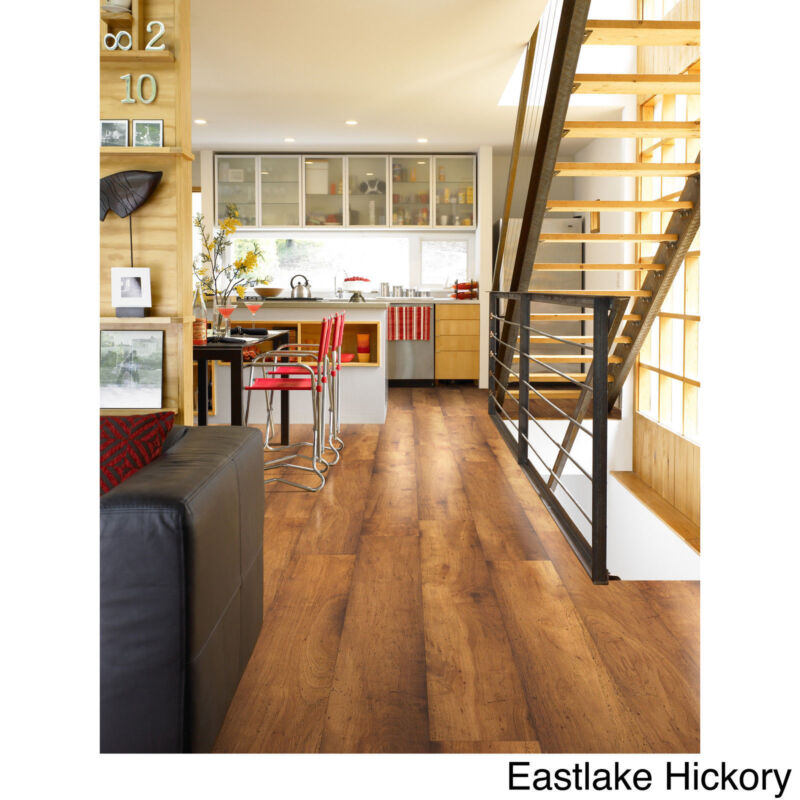 How to put down underlayment for laminate floor ebay for Is it ok to put hardwood floors in a kitchen