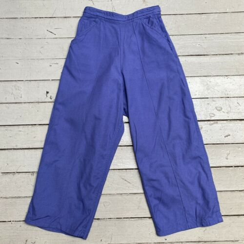 VTG 60s WHITE STAG Periwinkle Side Zip Capri Peddle Pusher Cropped Pants XS