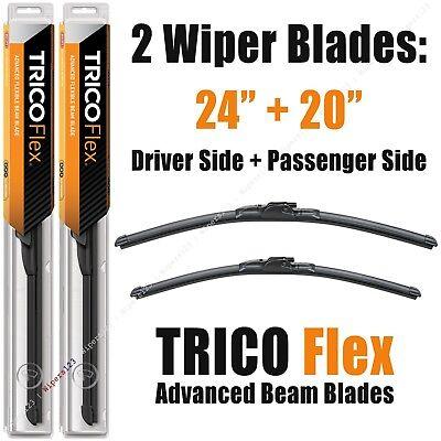 "Driver+Passenger 2-Wiper Set: Trico Flex 24""+20"" Beam Blades 18-240/18-200"