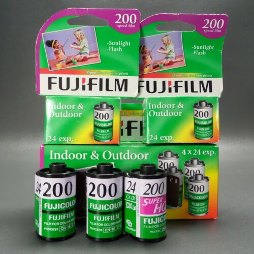 Lot Of 9 Rolls FujiFilm 200 35mm Color Film 24 exp.