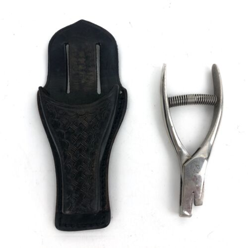 Vintage Safety Speed Holster w/Ticket PUNCH Puncher V Shape Cut Hole From 1972