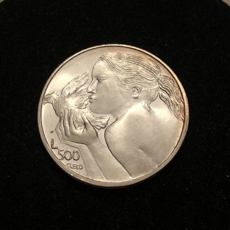 San Marino 1973 500 Lire Silver Coin BEAUTIFUL CONDITION