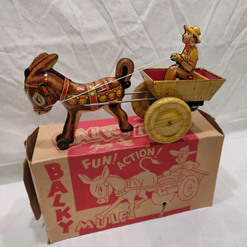 Balky Mule w/ Box  © 1948 Marx Toys