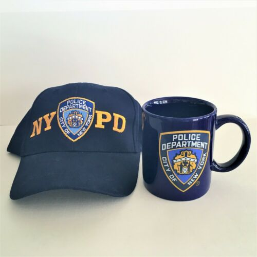 NYPD Coffee Mug & Cap Hat Officially Licensed New York City Police Department