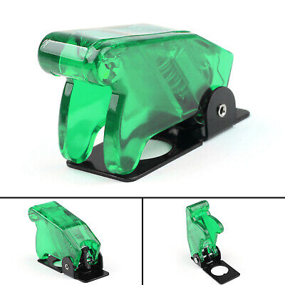 1pcs Toggle Switch Boot Plastic Safety Flip Cover Cap 12mm Clear Green T2