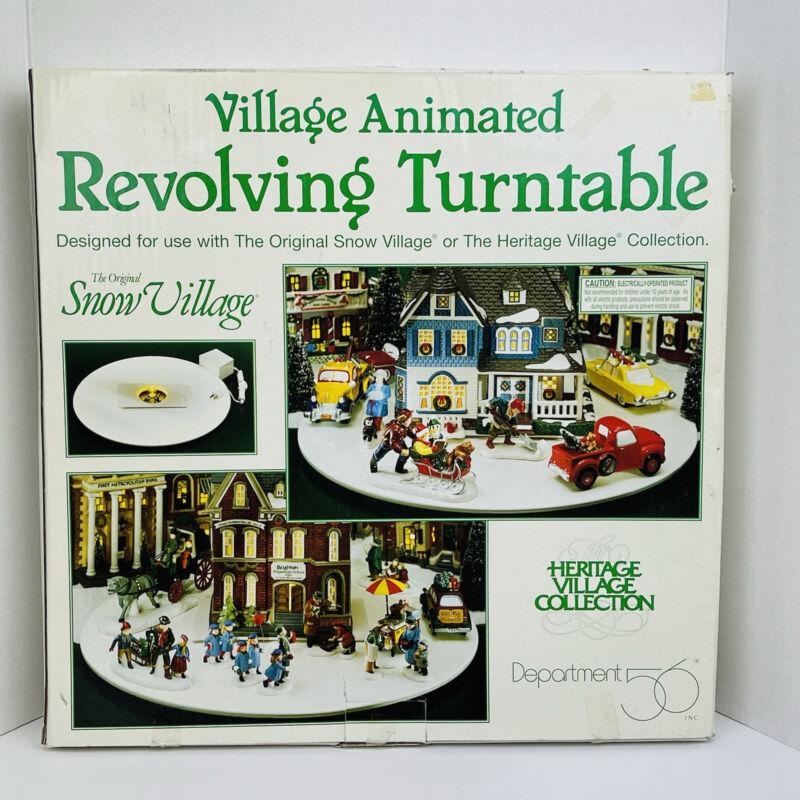 Vintage Dept 56 The Original Snow Village Animated Revolving Turntable