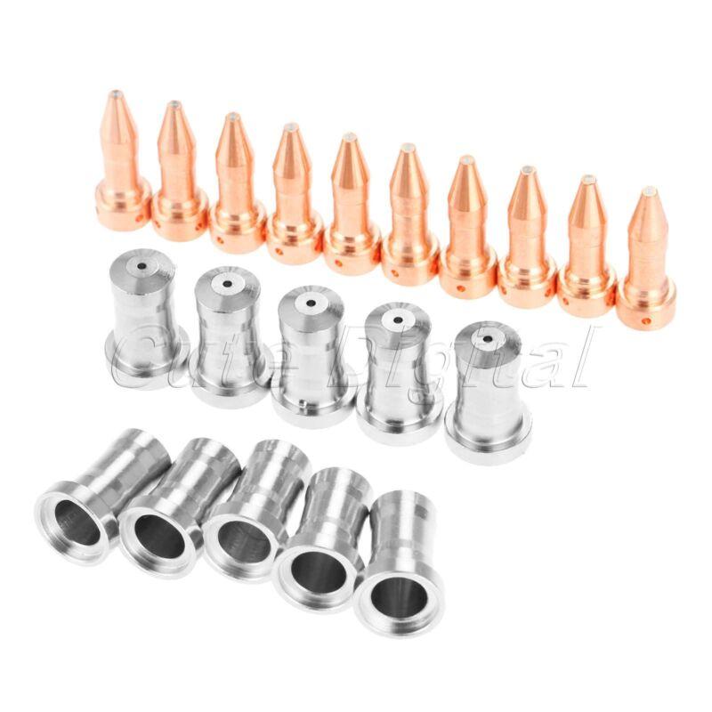 20Pcs Nozzles 33418 Electrodes 33366XL 80A for PT-23 PT-27 Plasma Cutter Torch