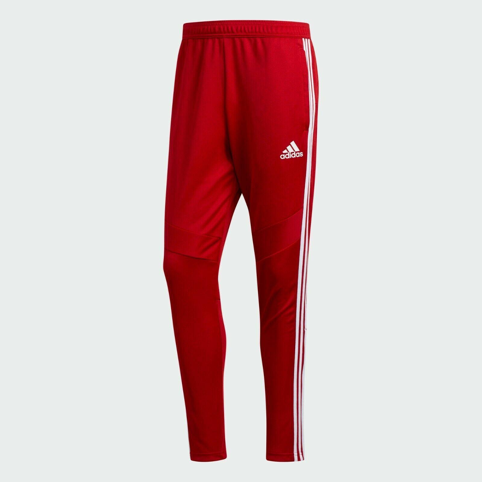 {Adidas} Men's Soccer Trio 19 Training Pants RED/WHITE - DZ8768