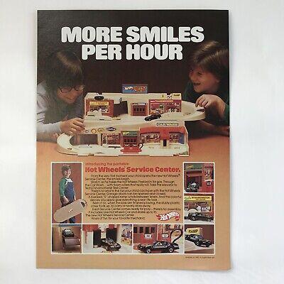 Vintage 1980 Mattel Toys Dealer Advertising Page Hot Wheels Service Center