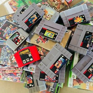 Wanted: Video Games Nintendo SNES N64 GameCube Xbox Switch
