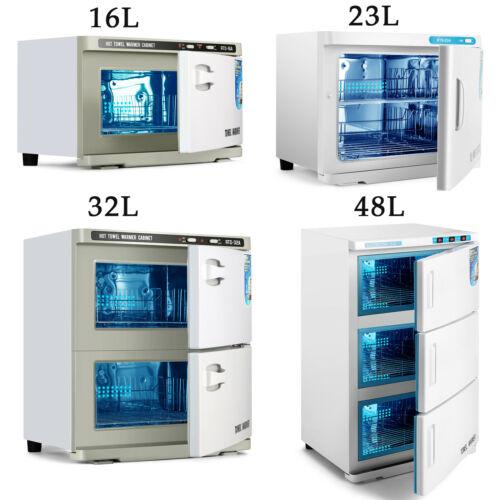 2IN1 UV Sterilizer Towel Warmer Storage Cabinet Stainless Steel Salon Spa Facial