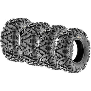 SunF Power.I 25x8-12 & 25x10-12 ATV/UTV 6 Ply Tires all-terrain Set of 4 A033