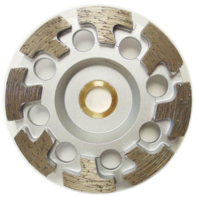 "4"" Premium Diamond Cup Wheel T-segment Grinding Concrete Stone 7/8""-5/8"" Arbor"