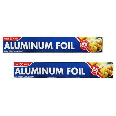 Table King Standard Aluminum Foil Roll Wrap 11.8 In X 25 Ft Pack Of 2 4 6