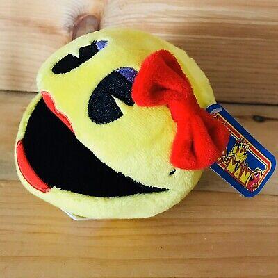 Ms. Pac-Man Plush 7'' Bandai Namco Yellow Ms Pac- Man. Stuffed Doll Toy USA