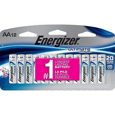 Used, Energizer Ultimate Lithium AA Batteries 12 Pack L91SBP-12 Exp. 2038 for sale  Bowling Green