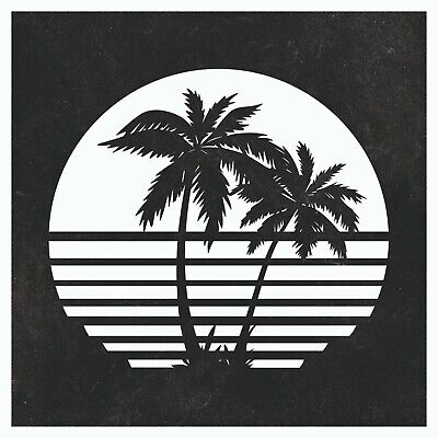 Palm Tree Dxf Sign Plasma Laser Waterjet Router Plotter Cut Vector Cnc Svg Cdr