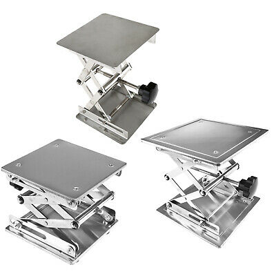 101520cm Stainless Steel Lifting Platform Stand Rack Scissor Lab Jack