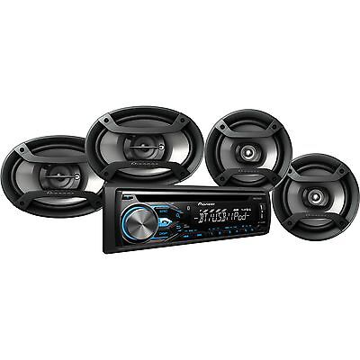 """Pioneer DXT-X4969BT CD Player Bluetooth Receiver + 6.5"""" & 6""""x9"""" Speakers Package"""