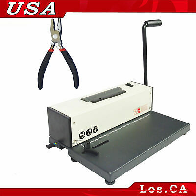 Electric Metal Based Coil Spiral Binding Machine 110v With Free Plier Office