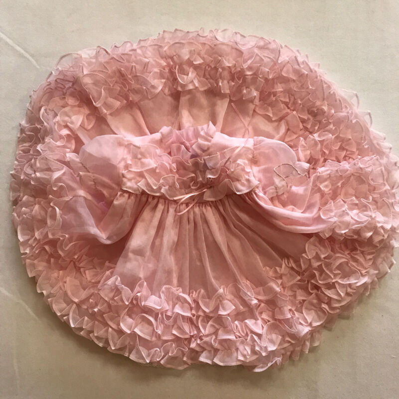 Vintage Baby Girl Pink Pageant Dress Toddler Circle Cut Martha's Miniatures
