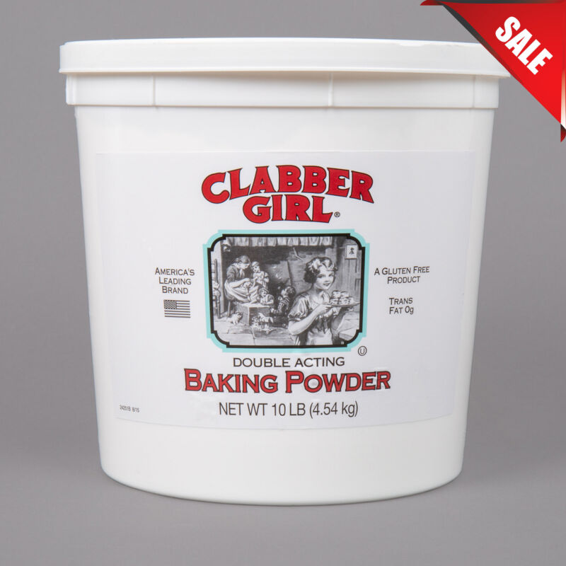 (CASE OF 4) 10 lb. Double Acting Baking Powder Bulk Leavening Agent Restaurant
