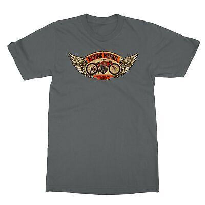 Flying Merkel Motorcycle Indian Harley Davidson Men's T-Shirt