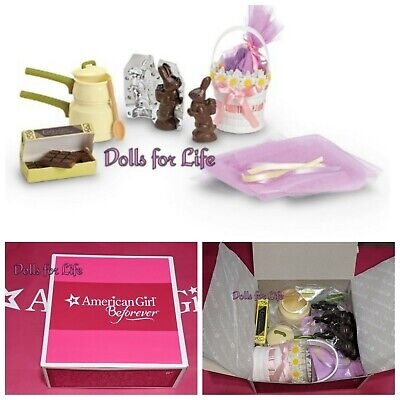 American Girl Kit's Homemade Sweets Chocolate Easter Bunny Candy Basket - Homemade Easter Candy