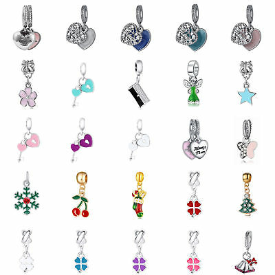 Silver Charms Pendant European Beads For 925 Sterling Bracelet Girl's Gift](Silver Charms For Bracelets)