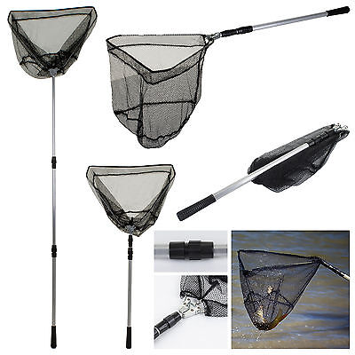 "Landing Net 58"" Telescopic Folding Fishing Pole Extending Fly Carp Course Sea"