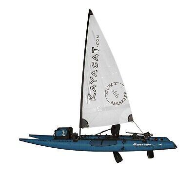Kayacat Cougar Inflatable Boat Denim Blue with White Sail