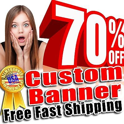 8x10 Custom Banner Sign + grommets, Full color, Vinyl Not cheap fabric - AMBD